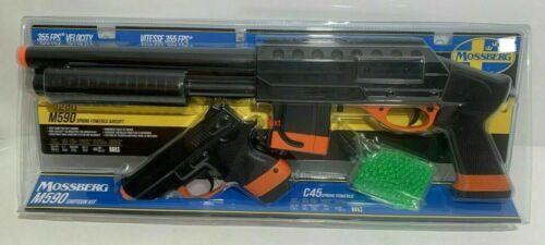 Mossberg M590 Spring Airsoft Pump Shotgun 355 FPS & C45 200 FPS Sidearm Kit