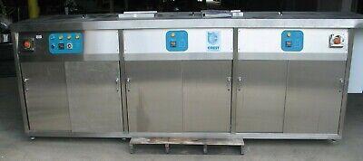 Crest Ultrasonic Oc3-2810-he 3 Tank Aqueous Cleaning Sys Ultrasonic Tank 0239