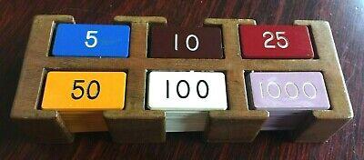 FARO Lammer Button Rack - Antique 6 Hole Double Row Casino Gambling Poker Craps