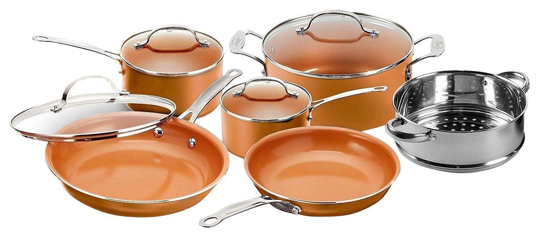 Gotham Steel 10-Piece Nonstick Frying Pan and Cookware Set -
