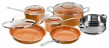 Gotham Steel 10-Piece Nonstick Copper Frying Pan & Cookware Set - New for 2018!