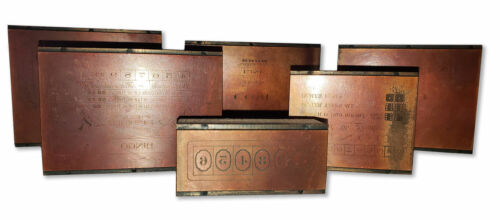 Taylor and Co Printing Blocks - Owned by Joey Aiuppa, Chicago Mafia & Capone Mob