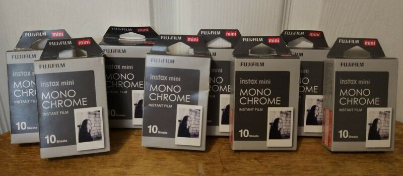 Fujifilm Instax 8 Pack Mini Monochrome 10 Sheets(80 TOTAL Exposures)☆EXP: 3/20☆