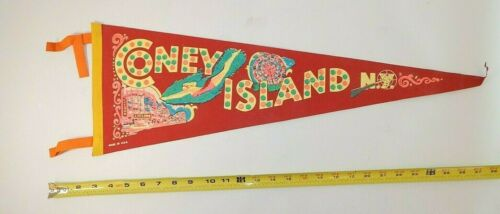 Vintage Pennant Felt Coney Island USA New York