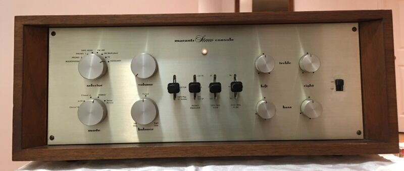 Marantz 7 Tube Preamplifier w/ Original Wood Case  &  WITH BOX