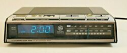 Vintage GE 1980's Alarm Clock Radio Model No 7-4646A AM FM Digital Blue Display