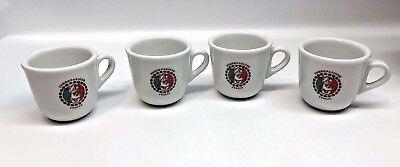 TORREFAZIONE ITALIA COFFEE Demitasse Espresso cups x4  MADE IN ITALY 2 OZ](2 Oz In Cups)