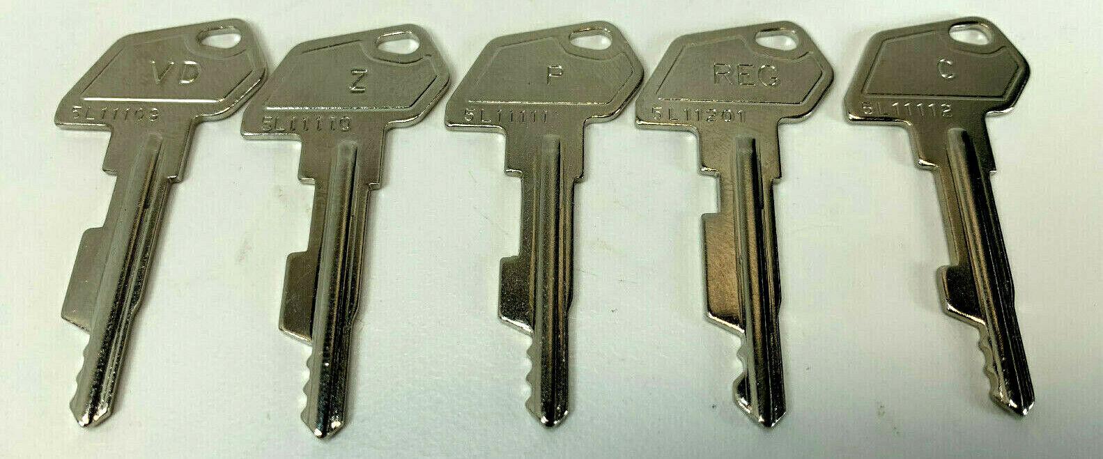 SAM4s and Samsung Cash Register Key Set - Register, Void, Z,