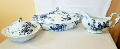 royal semi porcelain princess pattern booths england oval covered vegetable grav