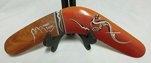 Genuine Returning Boomerang , AUSTRALIAN MADE by Three Sisters Hand Painted