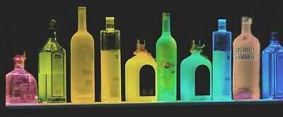 X3 Lot Of 3 Each 40 Multi-color Led Liquor Bottle Display Shelf Remote Control