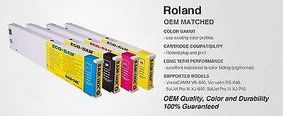 Samink Ink 440mil Eco-sol Max Cartridge For Roland Printers 4 Colors Cmyk
