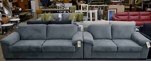 New Classic Grey Faux Suede Sample Sofa Suite Set 2.5+2 Seater Melbourne CBD Melbourne City Preview