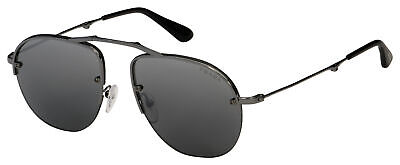 Prada Sunglasses PR 54US 5AV205 55 Gunmetal | Grey Gradient Silver Mirror Lens