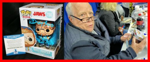 Richard Dreyfuss Signed Jaws Matt Hooper Funko POP insc W/ VIDEO Beckett PSA