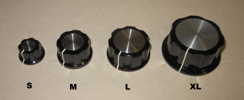"""(M) Eagle Plastic Devices Round Fluted Knob, 1"""" dia, 1/4"""" Shaft 45KN017-GRX"""