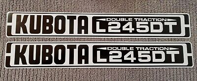 Kubota L245dt Reproduction Hood Decal Set 20.75 Length