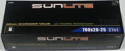 63405 Sunlite Bicycle Tube 700x20-25 thorn resistant 27x1 48mm Schrader valve