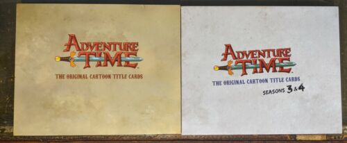 Adventure Time: Original Cartoon Title Cards Signed by Pen Ward - Both Books!