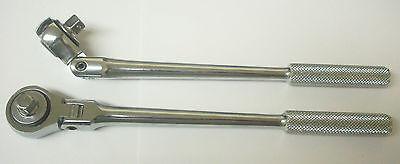 One Professional Mechanics 3 8  Drive Bent Flex Ratchet Handle   10 5 Inch
