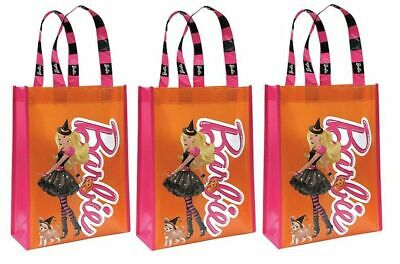 Barbie Witch Halloween Trick or Treat Tote Bag Birthday Party Gift Bags 3/PK](Trick Or Treat Halloween Tote Bag)