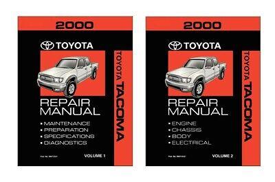 2000 Toyota Tacoma Shop Service Repair Manual Book Engine Drivetrain OEM