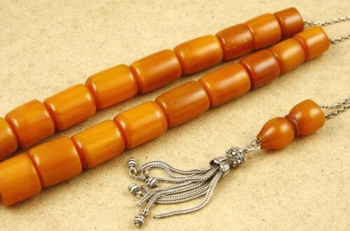 19+1 Beads Vintage Bakelite Faturan & 925 Silver Kompoloi