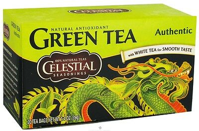 Celestial Seasonings Authentic Green Tea 20 Ea (pack Of 8)