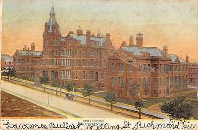Brooklyn New York birds eye view Seney Hospital antique pc Y13812