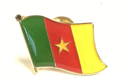 LOT OF 12 Cameroonian Flag Lapel Pins - Cameroon Flag Pin