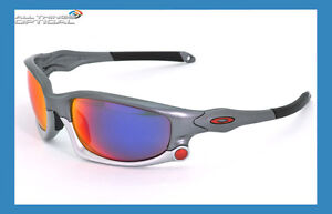 New Oakley Polarized Split Jacket Sunglasses in grey with Iridium lenses