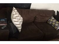 Free brown sofa in good condition