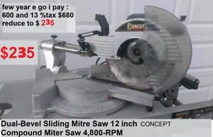 NEW price $205 Dual-Bevel Sliding Mitre Saw 12 inch Concept  Canada Compound Miter Saw 4,200-RPM