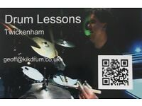 Drum Tuition from Geoff Hemsley, Twickenham.