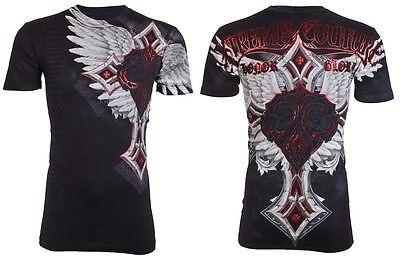 Xtreme Couture Affliction Men T Shirt Last Blow Tattoo Fight Biker Ufc M 3Xl  40