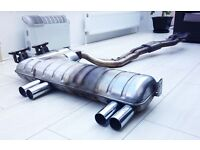 BMW E46 M3 OEM exhaust back box, centre section and hangers