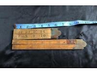 Rabone extending wooden rules x 2