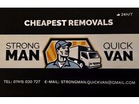24/7 Man & Van, FROM £10, Last minute removals, Single item deliveries, Cheapest Removals Ever