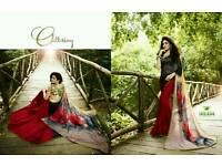 Indian Bollywood printed Sarees