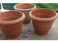 Flower pots £6 each or 3 for £15 Bargain!