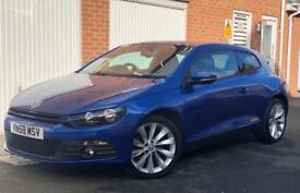 2008 58 Volkswagen Scirocco GT 2.0 TSI (200bhp) (Finance £180 P/M) Sprint Blue FSH+Parking Sensors