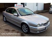 IMMACULATE Jaguar X Type 2.0 diesel EXTENSIVE service history Silver / Cream leather mot Sept 2017