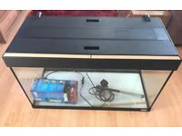 Fluval Roma 125L Aquarium including Heater and Brand New (Boxed) Filter