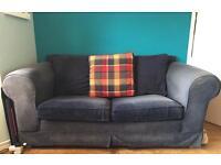 Dark Blue, 2 Seater Sofa Bed