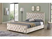 !!HUGE SALE!! FLORENCE CRUSHED VELVET FRAME BEDS