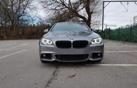 BMW 5 Series 2.0 520d M Sport 4dr (5 series) grey, diesel, black leather (F10)