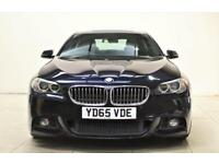 BMW 5 SERIES 2.0 525D M SPORT 4d AUTO 215 BHP + Sat/Nav, Leather Interior, Blueto (black) 2015