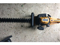 JCB poverful petrol hedge trimmer running but in a need of a service