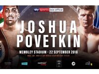 Anthony Joshua vs Alexander povetkin x5