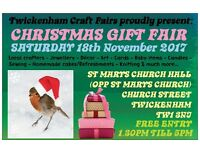 TCF's CHRISTMAS gift fair - Twickenham - 18th NOVEMBER 2017